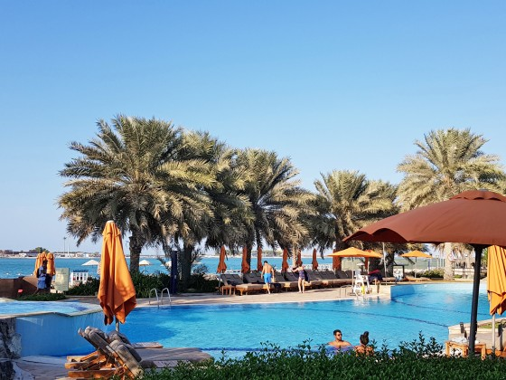 abu dhabi beach clubs hiltonia pool a