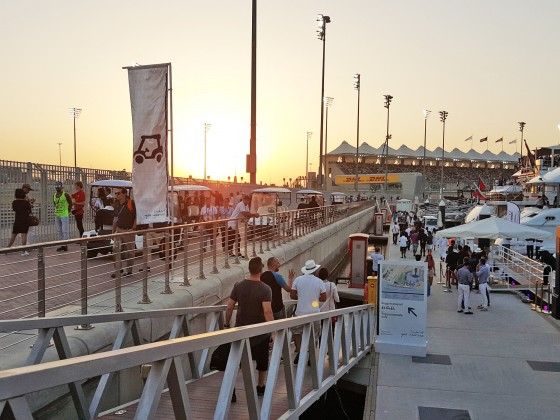 abu dhabi grand prix race sunset
