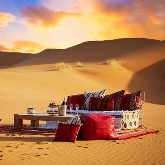 abu dhabi romantic dune dinner with champagne v